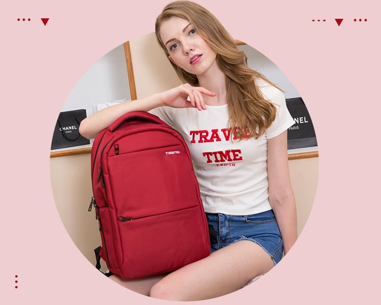 泰格奴防盗双肩包女韩版高中学生书包电脑包商务旅行背包时尚潮流