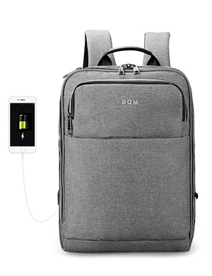 DQM Multifunction Business waterproof zipper laptop backpack usb male anti thief mochila Teenager Fa