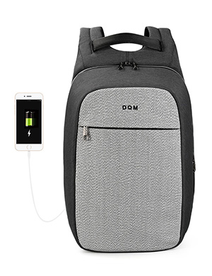 DQM High quality 100% Cut resistant 15.6 USB laptop Man backpack Business Fashion Anti-theft Waterpr