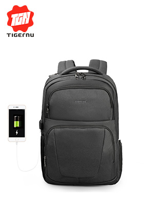 /tigernu new wireless charging USB backpack college students Korean casual trend student bag
