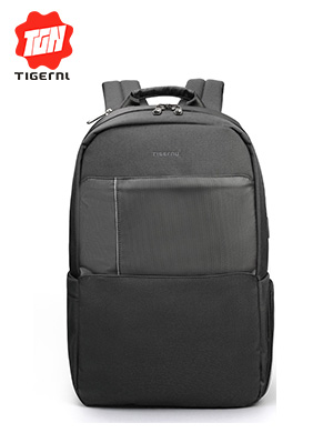 Tigernu Double Zipper Design USB Charging Men 15.6 inch Anti theft Water Repellent Laptop Backpacks