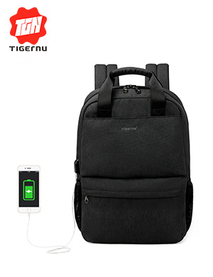 2018 Tigernu Brand Casual fashion women USB charging Backpack feminine 15.6 Laptop Backpack School B