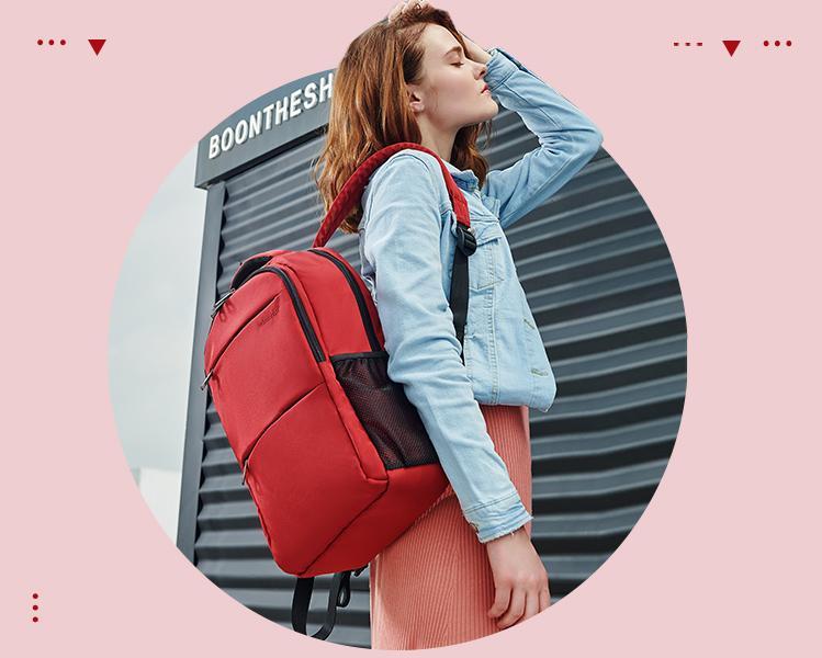 葡京网址防盗双肩包女韩版高中学生书包电脑包商务旅行背包时尚潮流